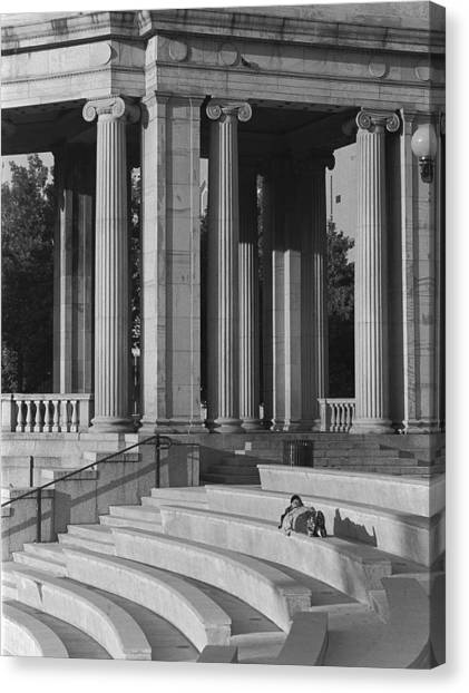 Nap In Civic Park Canvas Print by Jim Furrer