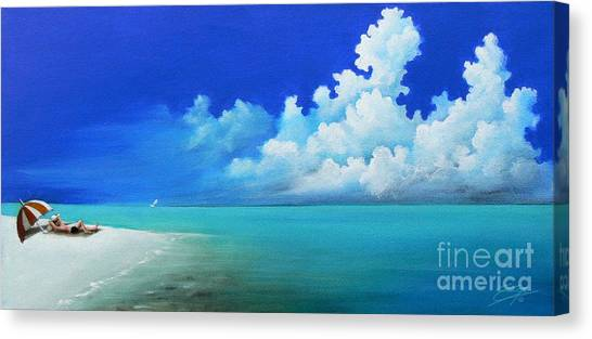 Nap On The Beach Canvas Print