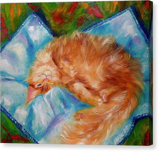 Main Coons Canvas Print - Cat Nap by Marina Wirtz