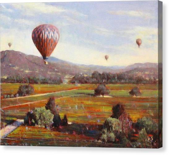 Napa Balloon Autumn Ride Canvas Print by Takayuki Harada