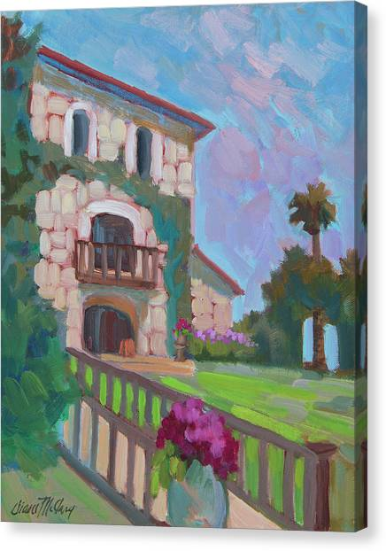 Sonoma Valley Canvas Print - Napa Valley Winery by Diane McClary
