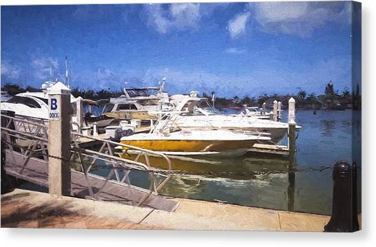 Naples Dock Canvas Print