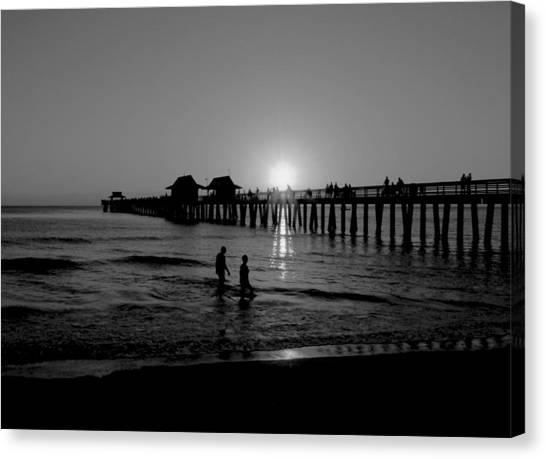 Naples Florida Pier Sunset Canvas Print