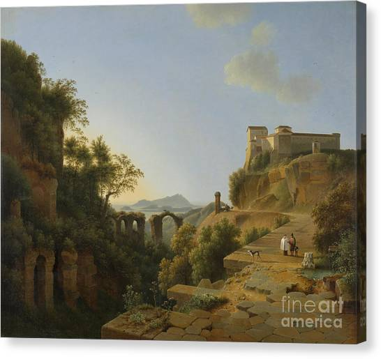 Rijksmuseum Canvas Print - Naples Gulf With The Backdrop Of The Island Of Ischia  by Celestial Images