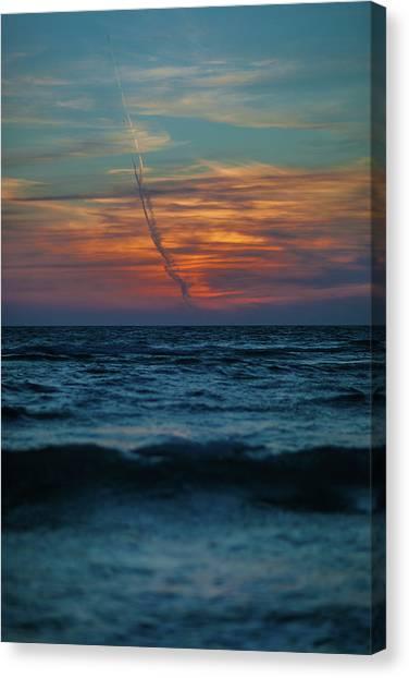 Southwest Florida Sunset Canvas Print - Naples Launch by Dan Vidal