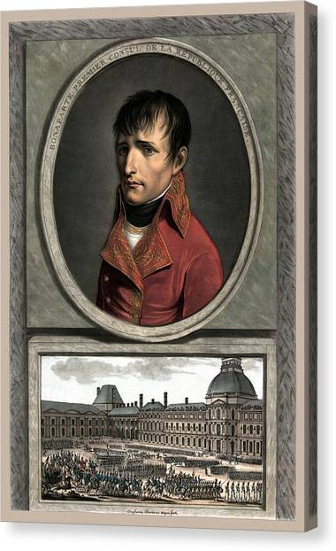 Military Canvas Print - Napoleon Bonaparte And Troop Review by War Is Hell Store