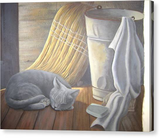 Naptime Canvas Print by Judy Keefer