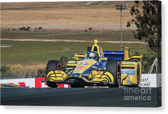 Marco Andretti Canvas Print - Marco Andretti 2 by Webb Canepa