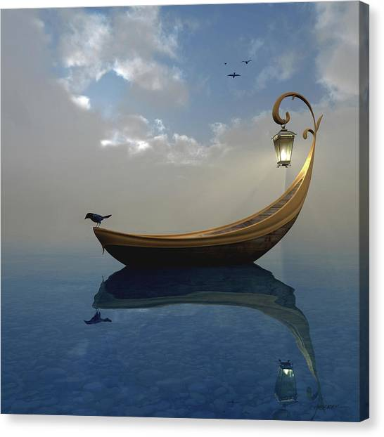 Boat Canvas Print - Narcissism by Cynthia Decker