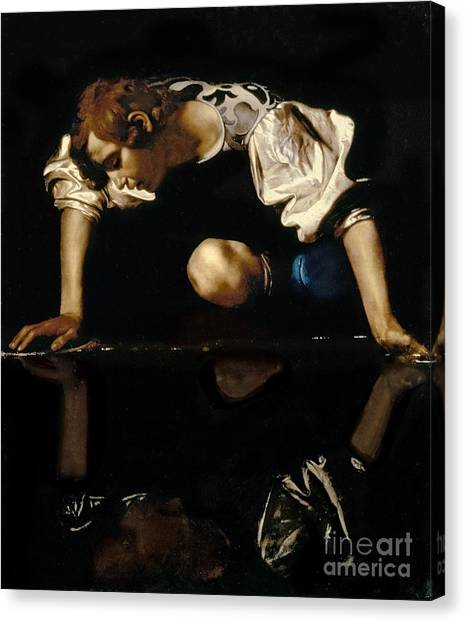 Baroque Art Canvas Print - Narcissus by Caravaggio