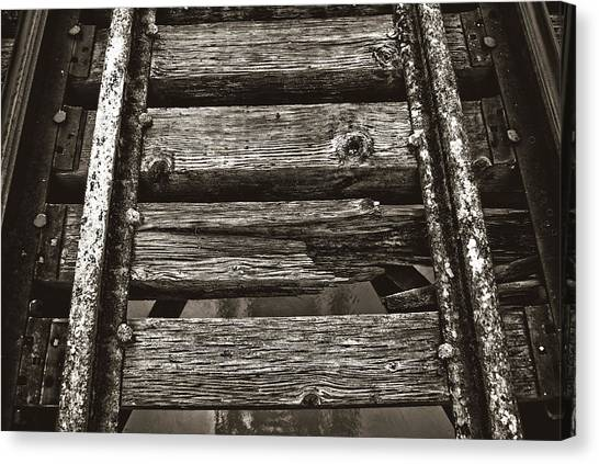 Narrow Gauge Tracks #photography #art #trains Canvas Print