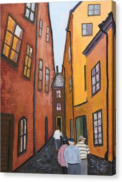 Narrow Passage Canvas Print
