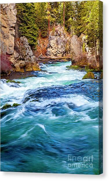 Mountain Canvas Print - Narrow Passage by David Millenheft
