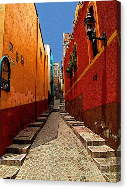 Narrow Passage Canvas Print by Mexicolors Art Photography