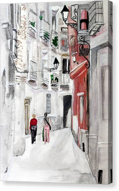 Narrow Street Canvas Print
