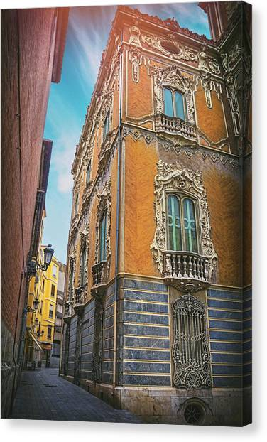 Rococo Art Canvas Print - Narrow Street Valencia Spain  by Carol Japp