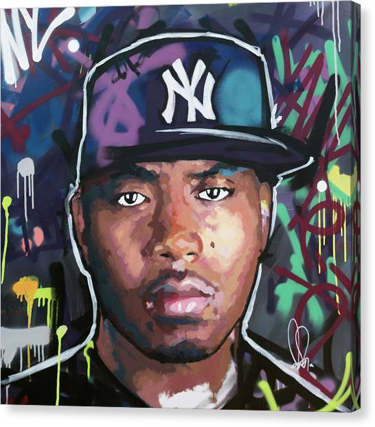 Jay Z Canvas Print - Nas by Richard Day