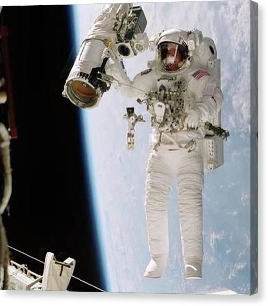 Astronauts Canvas Print - Nasa Astronaut William Mcarthur On A by Dominik Hofer