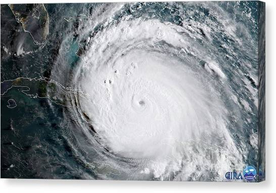 Canvas Print featuring the photograph Nasa Hurricane Irma Satellite Image by Rose Santuci-Sofranko