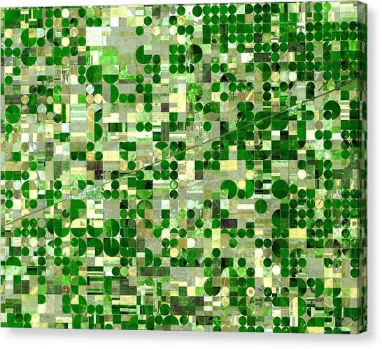 Nasa Image-finney County, Kansas-2 Canvas Print