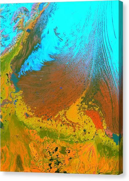 Nasa Image-malaspina Glacier, Alaska-glacier-2 Canvas Print