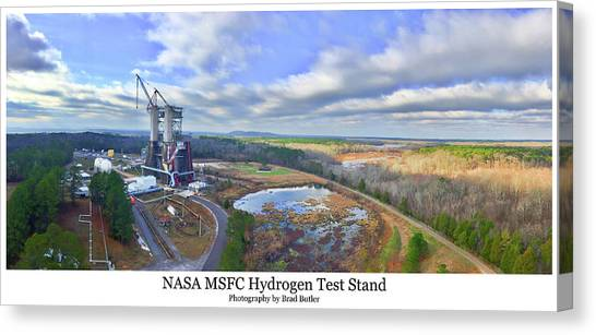 Nasa Msfc Hydrogen Test Stand - Original Canvas Print