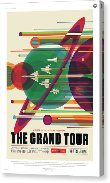 Nasa The Grand Tour Poster Art Visions Of The Future Canvas Print