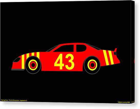 Nascar Canvas Print by Asbjorn Lonvig