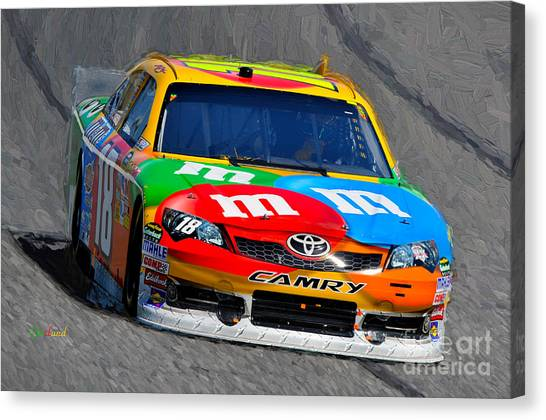 Daytona 500 Canvas Print - Nascar Sprint Kansas City  by Garland Johnson