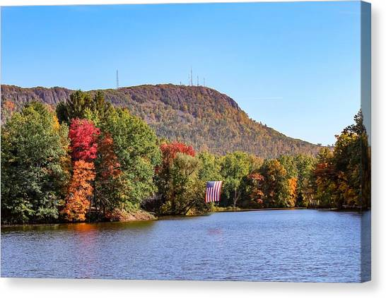 Nashawannuck Pond Fall Colors Canvas Print