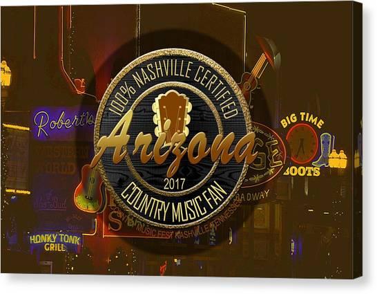 Nashville Certified Arizona Country Music Fan Canvas Print