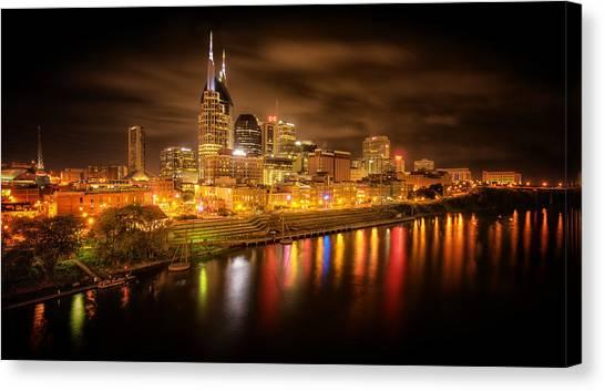 Nashville City Lights Canvas Print