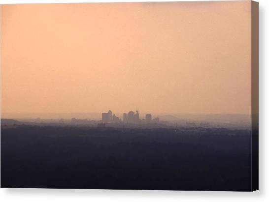 Nashville From The Distance Canvas Print by Randy Muir
