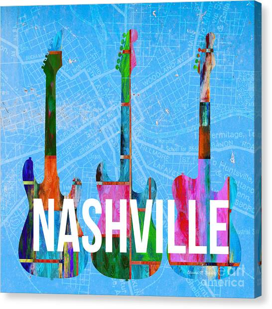 Nashville Guitars Canvas Print