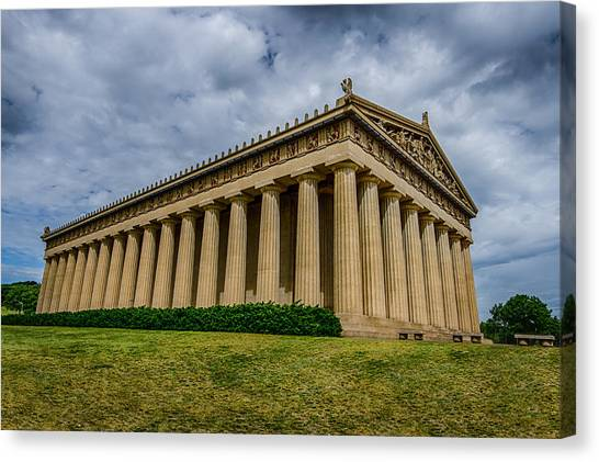 The Parthenon Canvas Print - Nashville Parthenon by Mike Burgquist