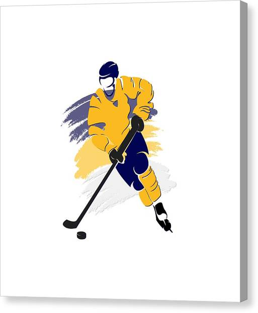 Nashville Predators Canvas Print - Nashville Predators Player Shirt by Joe Hamilton