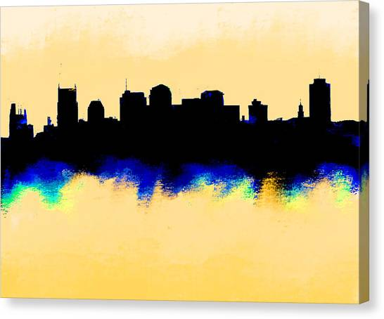 Ben Affleck Canvas Print - Nashville  Skyline  by Enki Art
