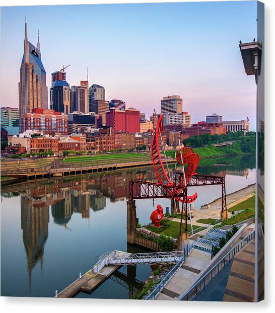 Nashville Skyline - Square Format Canvas Print
