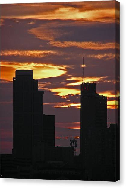 Nashville Sunrise - 3 Canvas Print by Randy Muir
