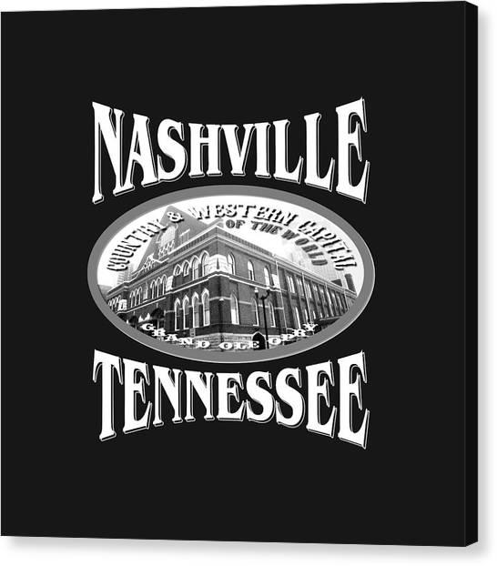 Nashville Tennessee Design Canvas Print