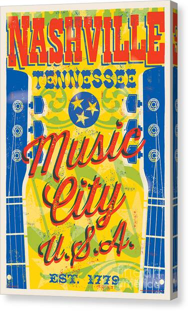 Nashville Canvas Print - Nashville Tennessee Poster by Jim Zahniser
