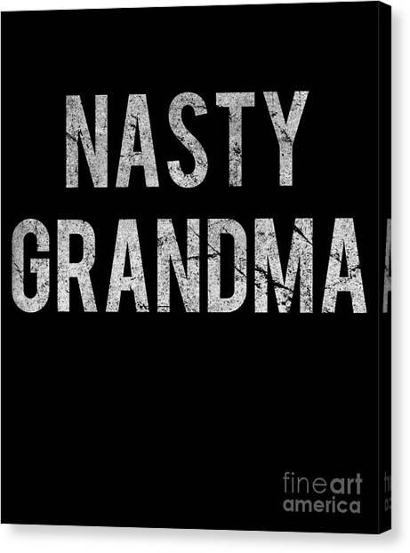 Nasty Grandma Vintage Canvas Print