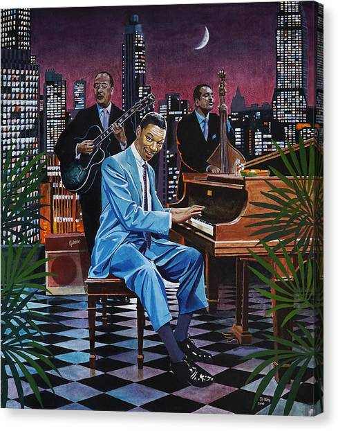 Nat King Cole - After Midnight Canvas Print by Jo King
