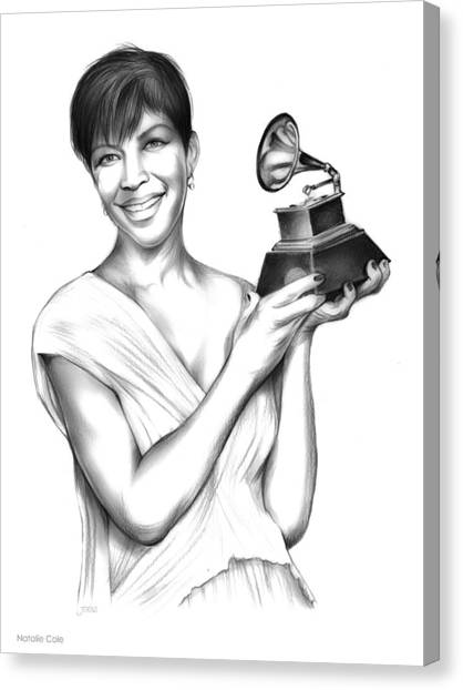 Rhythm And Blues Canvas Print - Natalie Cole by Greg Joens