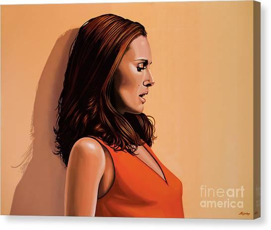 Israeli Canvas Print - Natalie Portman 2 by Paul Meijering