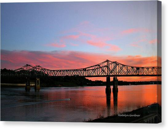 Natchez Sunset Canvas Print