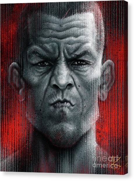 Ufc Canvas Print - Nate Diaz by Andre Koekemoer