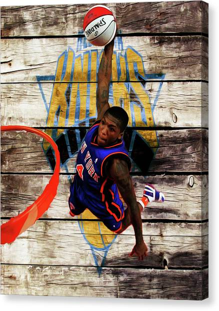 Denver Nuggets Canvas Print - Nate Robinson 2c by Brian Reaves
