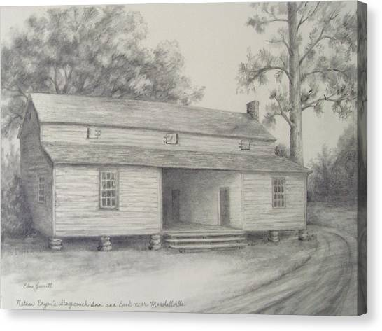 Nathan Bryan's Stagecoach Inn And Bank Near Marshallville Canvas Print