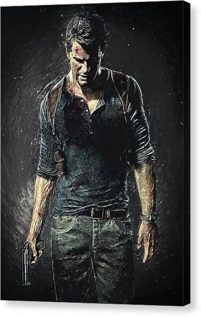 Xbox Canvas Print - Nathan Drake - Uncharted by Taylan Soyturk